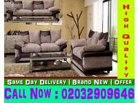 BEST LOOKING JUMBO CORD SOFA CORNER BROWN AND BEIGE SOFA ALSO 3 AND 2 SEAT Box Springs