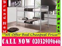 single metal bunk split in 2 single Base available , Bedding Pine Grove