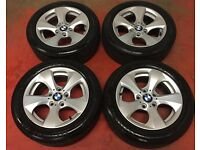 16'' GENUINE BMW E90 F30 3 SERIES 5 SPOKE ALLOY WHEELS TYRES 5X120 RENUALT TRAFIC VIVARO PRIMASTAR