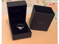 9ct White Gold 0.12 Carat Diamond Trilogy Ring size K