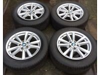 "18"" Genuine BMW X5 F15 E70 Alloy Wheels & Tyres 255/55R18 5x120 Fit X6 Range Rover VW Transporter T5"