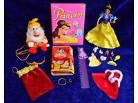 Disney Princess & Snow White Bundle: Light Up Doll, Dwarf Backpack, Stationery & Accessories