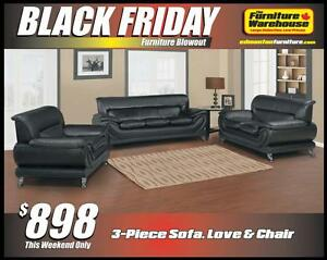 BLACK FRIDAY 3-Piece Sofa Set Deal-Only $898