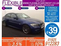2011 BMW 320D 2.0 M-SPORT AUTO GOOD / BAD CREDIT CAR FINANCE AVAILABLE
