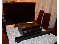 """40"""" HD Black LED TV and Surround Sound Package"""