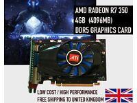 AMD R7 350 4GB (4096MB) DDR5 R7350 Graphics Card 4K HD - NEW - Mining Bitcoin