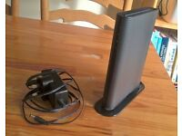 Old SKY 'Sagem' Router Box with charger lead in Black