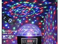 New LED Laser Crystal Magic Ball Remote Control RC DMX Auto-Play Sound-Active Party Disco DJ UK Plug