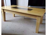 Large Real Beech Wood Coffee Table.
