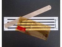 Printers / Proof reader rulers