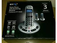 Home Landline Phone - BT Freelance XT3500 Trio Handsets *****Cheap Sale*****