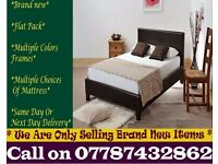 Strong PU Leather Frame Single Bedding Black Brownalso have double and king New Harmony