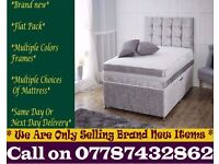 Amazing Offer CRUSH VELVET SINGLE DOUBLE KING SIZE MEMORY FOAM DESIGNER / Bedding Hillsboro