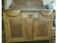 1920s/30s Attractive vintage Oak side board