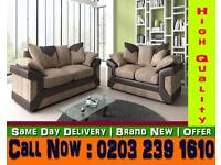NEW Dennoo Leather Sofa Brown