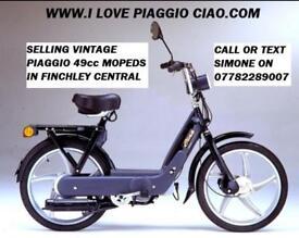 Vintage Italian Piaggio Vespa Si 49cc Moped Mobylette 2 pounds for 130km like Ciao or Bravo