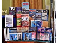 39 vhs videotapes of aircraft and warfare.