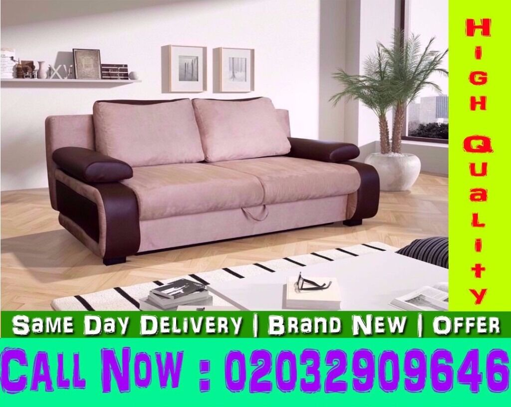 FABRIC 3 AND 2 SEATER SOFA BED IS ALSO IN Charlottein Earls Court, LondonGumtree - Quality can be seen if you want to purchase book ur order now ..single,double divan beds are also