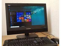 "Superfast 20"" HD Lenovo All in 1 PC,Core i3-3220,8GB RAM,Wifi/Webcam,Win10 64 Bit Desktop/computer"