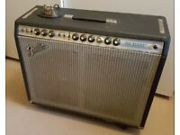 Fender 1970s Pro Reverb 2x12 silverface all-valve amplifier, UK voltage