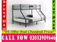 TRIO metal bunk split in 2 single + Double Base available , Bedding Gunnison