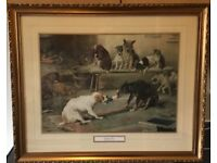 William Henry Trood, rare prints, set of two, 'The Christmas Cracker'