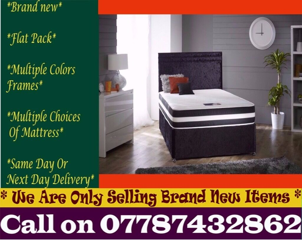 Amazing Offer CRUSH VELVET SINGLE DOUBLE KING SIZE MEMORY FOAM DESIGNERBedding Port Royalin Worcester Park, LondonGumtree - Features Brand New Bed Type Divan Bed Size Standard Double Material crush velvet Dimensions Width 4ft6 140cmLength 6ft3 190cm Divan Base Features Platform Top Base We adhere to strict quality standards to ensure you are fully satisfied also With your...