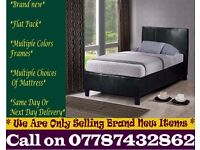 Double / Small / Kingsize Leather Bedding also With 12 inch Crown Ortho Mahto