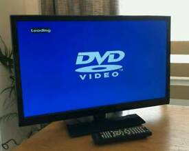 24in Seiki LED TV with Freeview HD and Built in DVD Player HDMI USB VGA