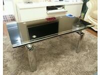 High quality glass and chrome Coffee table