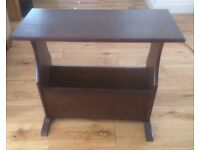 Side table with magazine/newspaper storage