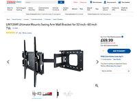 TV BRACKET. TILT & SWIVEL ULTRAMOUNT UM126M NEW NEVER TAKEN OUT OF BOX