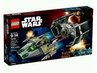 LEGO Star Wars Vader's TIE Advanced vs. A-Wing Starfighter (75150) Brand New