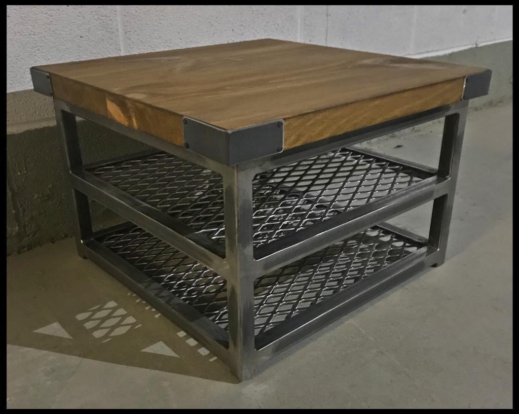 industrial wood furniture. Side Table/industrial/Wood/bespoke/steel Industrial Wood Furniture