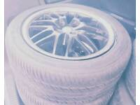 """Alloy wheels 15"""" with good tyres for Toyota yaris Nissan etc"""