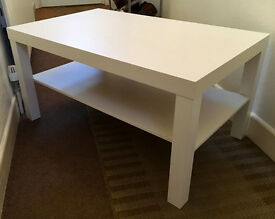 IKEA White 'Lack' Coffee Table