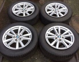 "18"" Genuine BMW X5 F15 E70 Alloy Wheels & Tyres 255/55R18 5x120 Fit X6 Range Rover VW Transporter T5"