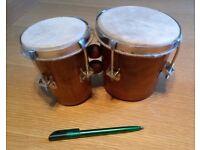Small handheld bongo drums