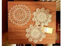 Handmade Vintage Crocheted Doily (a set of 5) - wonderful pattern - housewarming gift - CHARITY SALE