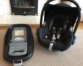 Maxi cosi cabrio fix car seat and family fix isofix car seat base
