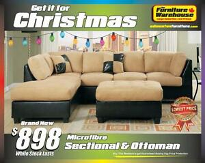 BRAND NEW Microfiber Sectional-Limited Quantity Available
