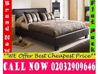 Double / Small / Kingsize Leather Bedding with 12 inch Crown Ortho Gordonville