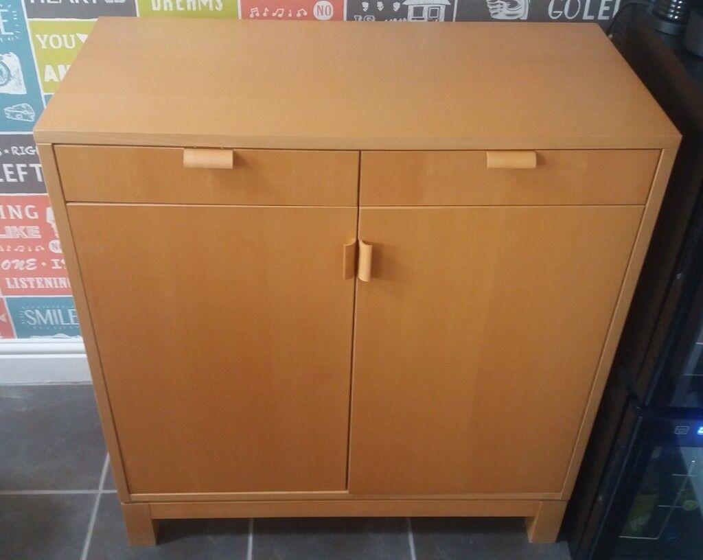 Ikea Birch Credenza : Ikea birch sideboard cupboard in musselburgh east