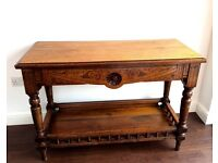 Vintage Oak Console Table