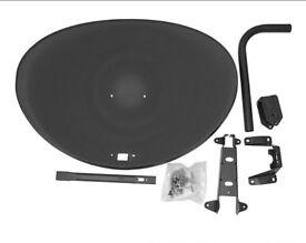 Zone 2 Satellite Dish Kit Freesat PVR Sky HD Polsat Hotbird 80cm
