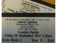 2 tickets for Gabriel Iglesias: FluffyMania World Tour 29Sep [Gone pending collection on the 27th]