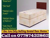 STRONG Single Bedding at Best PRICE base and frame Double Hosmer