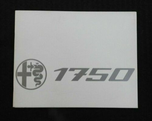 """1969 """"THE ALFA ROMEO 1750"""" CATALOG SALES BROCHURE VERY NICE 20 pages MINTY"""