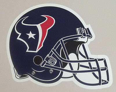 """Houston Texans FATHEAD Official Team Helmet Graphic 17""""x15"""" NFL Wall Poster Sign"""