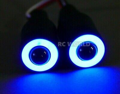 RC LED Lights HALO Rings Angel Eye Lights Big 17mm BLUE Halos w/ WHITE Center